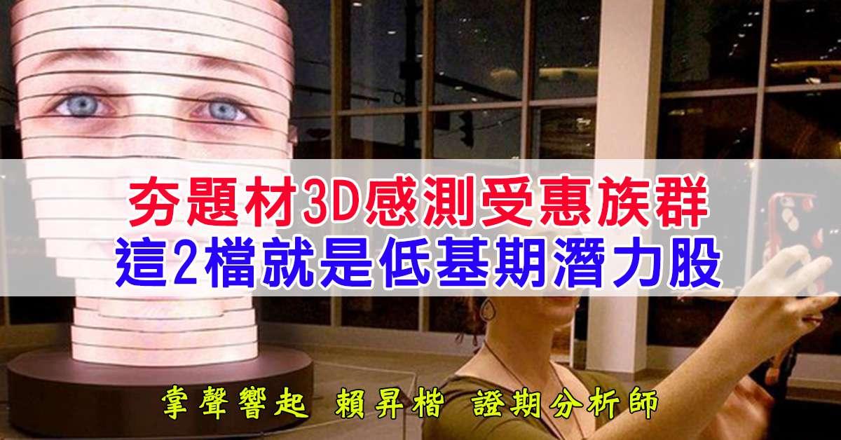 夯題材3D感測受惠族群 這兩檔就是低基期潛力股
