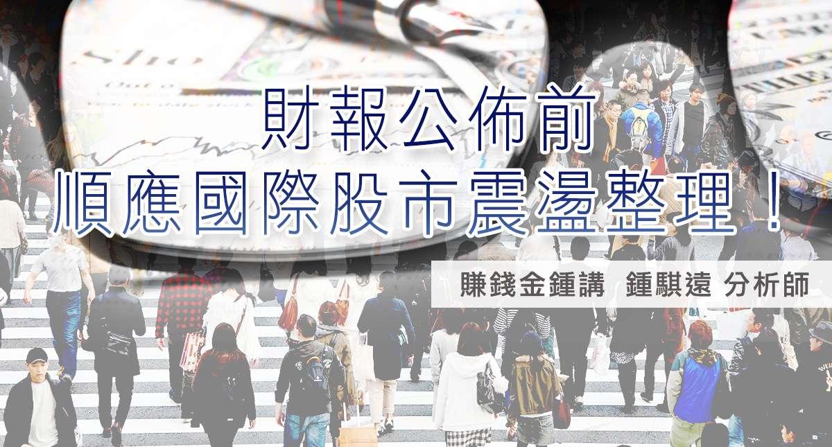 20170109財報公佈前、順應國際股市震盪整理!