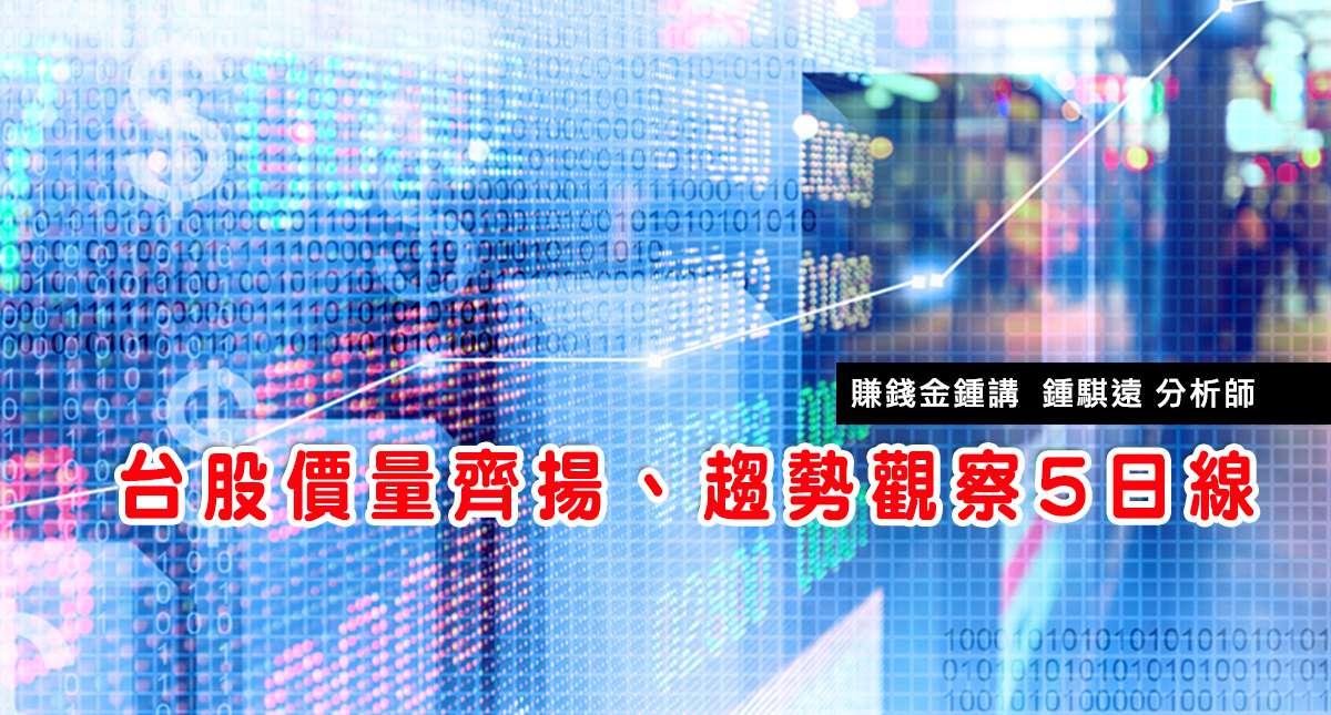 20170206台股價量齊揚、趨勢觀察5日線