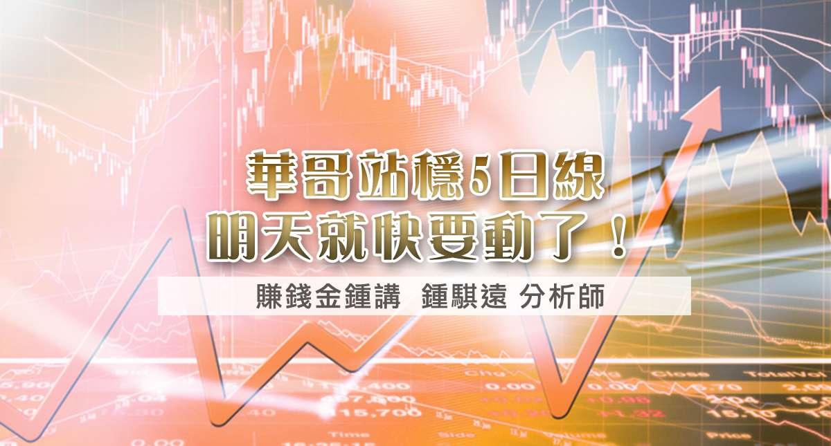 20170309華哥站穩5日線、明天就快要動了!