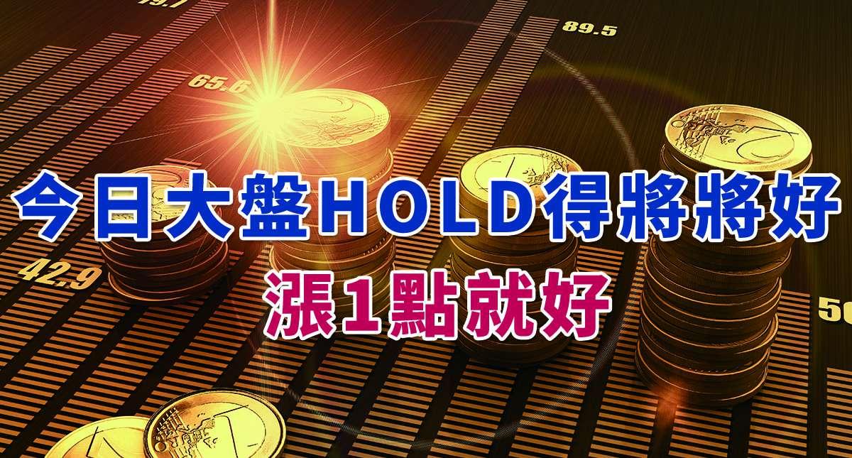 【幸運星來講股】:今日大盤HOLD得將將好!漲1點就好!!