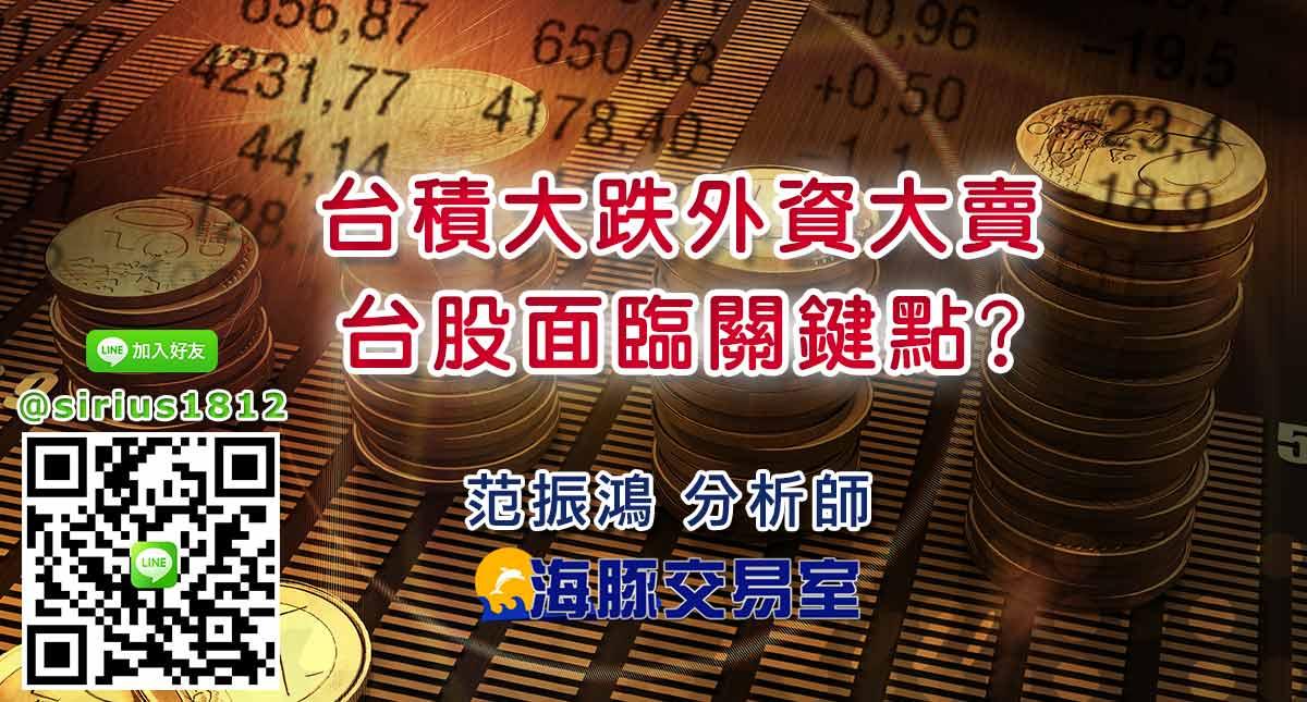 台積大跌外資大賣 台股面臨關鍵點?