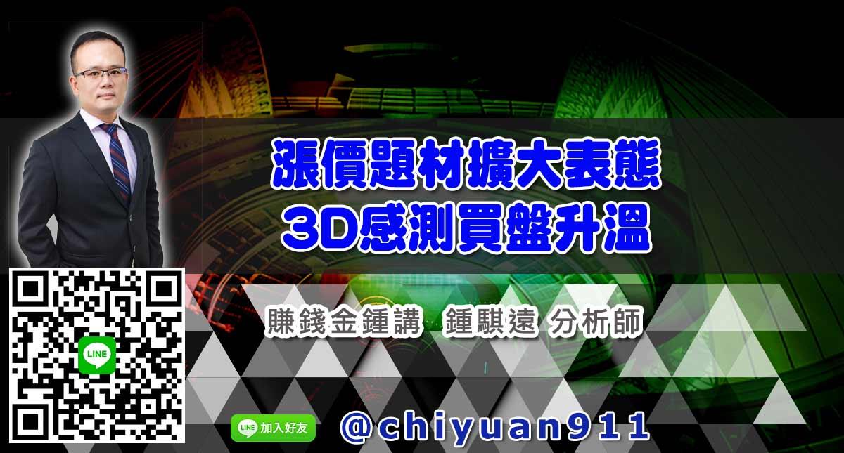 漲價題材擴大表態、3D感測買盤升溫