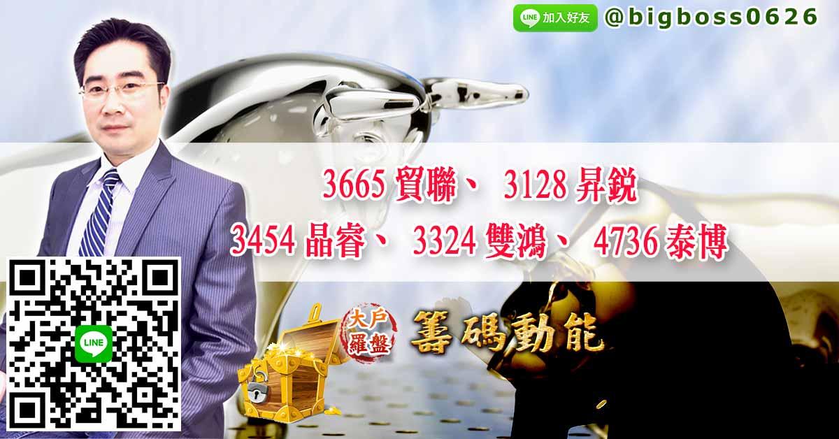 3665貿聯、3128昇銳、3454晶睿、3324雙鴻、4736泰博