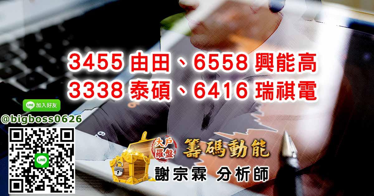 3455由田、6558興能高、3338泰碩、6416瑞祺電 (圖)