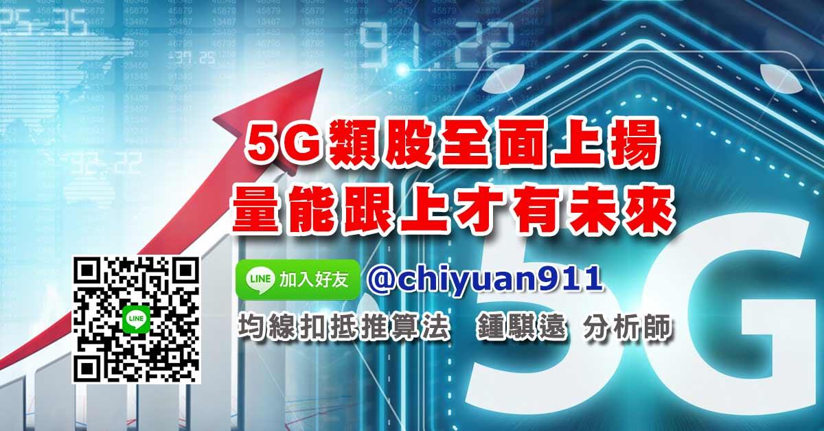 5G類股全面上揚、量能跟上才有未來