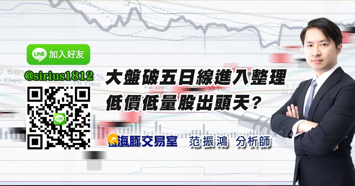 大盤破五日線進入整理 低價低量股出頭天?
