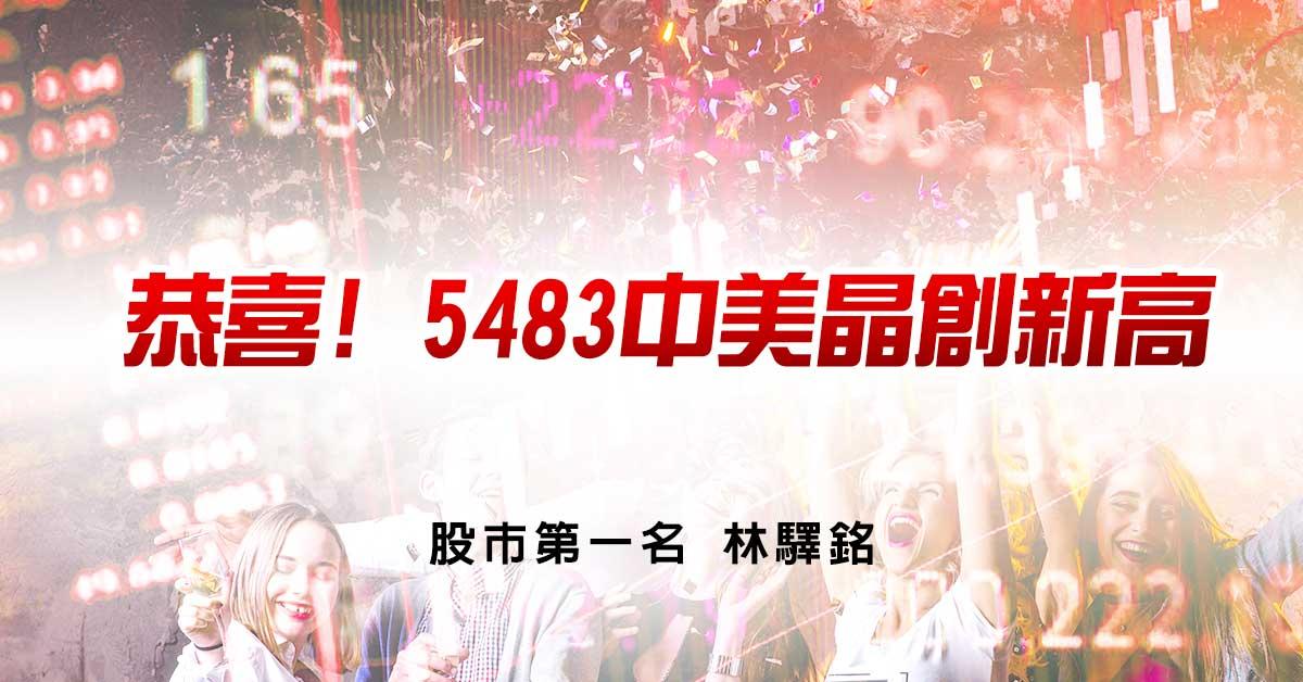 恭喜! 5483中美晶創新高